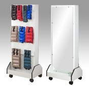 Weight racks with mirrors